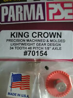 "Parma 70154 King Crown Gear 34 Tooth 48 Pitch 1/8"" Axle With Allen Screw Qty. 1"