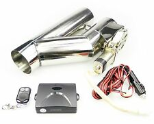 """STAINLESS UNIVERSAL EXHAUST CUTOUT-OUT VALVE E-CUT KIT REMOTE 2.5"""" / 63,5mm"""