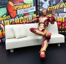 "Marvel Legends Iron Man MK 42 Armor with Replica Sofa 6"" Action Figure Loose"