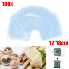 """100pcs 5""""x7"""" Clear Heat Shrink Wrap Films Heating Seal Packaging Protectors Bags"""
