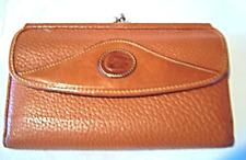 Vintage Dooney & Bourke Teton Organizer Checkbook Pebbled Tri-fold Wallet