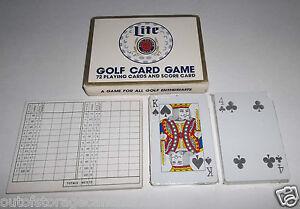 Vintage 1985 Miller Lite A Fine Pilsner Beer Golf Card Game - Super Rare NEW