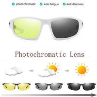HD Cycling Polarized Sunglasses Riding Bike Goggles Photochromic Chameleon Lens