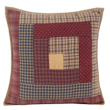 MILLSBORO Throw Pillow Filled Plaid Lodge Log Cabin Patchwork Cotton VHC Brands