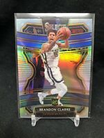 2019 Panini Select BRANDON CLARKE ROOKIE Silver Prizm Concourse Grizzlies 76 A27