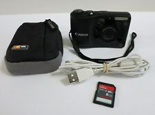 Canon PowerShot A1200 12.1MP Digital Camera w/ Case+8GB Card+Canon Cable, Tested