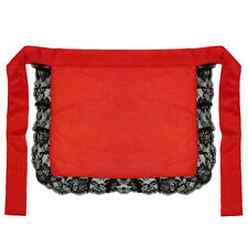 Adult/Teen Red Nurse or Maid Apron with Black Lace Ruffles ~ HALLOWEEN COSTUME