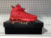 Nike LeBron 17 GS Red Carpet Boys Youth Basketball Shoes Size 4.5Y BQ5594-600