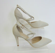 Ladies Anne Michelle Court Shoes F10551 Ivory Patent 6 UK Standard