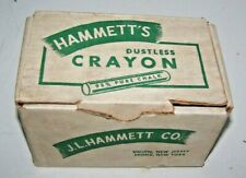 VINTAGE BOX HAMMETTS DUSTLESS CRAYON / CHALK SCHOOL