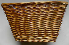 "16"" Wicker Bike Basket Front/Rear Inc Straps Cycle Parts Cheapest"