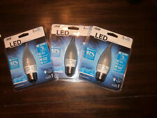 3x LED 2W Flame Tip Frosted Chandelier LED Light Bulb, 25W Equivalent, New