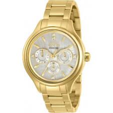Invicta Women's Watch Angel Diamond White MOP Dial Yellow Gold Bracelet 30959
