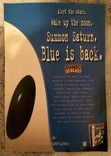 Sonic the Hedgehog 3D Blast Poster Ad Print Sega Saturn