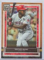 ARISTIDES AQUINO ROOKIE 2020 TOPPS MUSEUM COPPER CARD #28 CINCINNATI REDS MLB RC