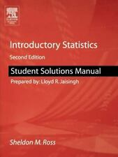 Student Solutions Manual for Introductory Statistics by Sheldon M. Ross...
