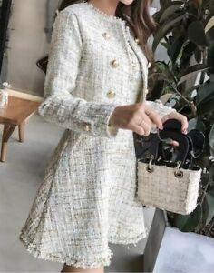Unbranded Tweed Jacket Blazer Mini Dress Designer Summer Elegant Occasion Set