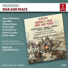 WAR AND PEACE - VISHNEVSKAYA,G./MILLER,L./ROSTROPOWITSCH/ONF HOME OF OPERA 4 CD