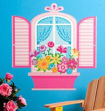 WALLIES PRETTY WINDOW wall stickers MURAL 22 decals shutters flower box Girly
