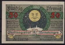 [14976] - NOTGELD MEMMINGEN, Stadt, 50 Pf, 01.11.1918, Tieste 4495.05.10.3M - mi