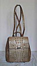 Brahmin Margo Honeycomb Melbourne Croc Embossed Leather Backpack