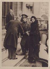 Belgique Les souverains belges à Malines Vintage argentique 1934