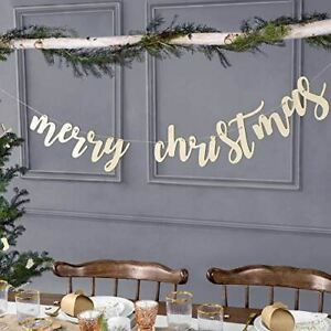 Merry Christmas Wooden Garland | DIY Festive Hanging Home Decorations 2m
