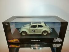 HOT WHEELS BLY59 VW VOLKSWAGEN HERBIE THE LOVE BUG - CREAM 1:18 - EXCELLENT IB
