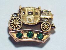 Fisher Body GM Employee Service Award Pin 10K Gold w/ 3 Emeralds (1011 #2w  EMP)