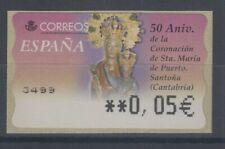 Spanien ATM Hl. Maria von Santona, Wert in € 5-stellig breit, Mi.-Nr. 112.4