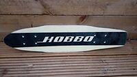 1970's Hobbo Fibreform Skateboard Deck. White with Black Centre