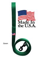 Dog Leash Lead Long Obedience Recall Training Tracker GREEN MADE IN THE USA