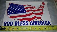 "God Bless America! Vinyl Window Sticker Decal Flag U.S.A 12"" X 7.5"" High quality"
