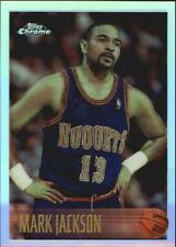 1996-97 Topps Chrome Refractors Denver Nuggets Basketball Card #166 Mark Jackson