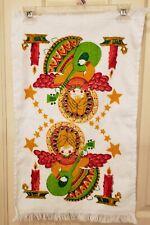 "Vtg Cannon Christmas Angel Bathroom Hand Towel 24 3/4"" x 15"""