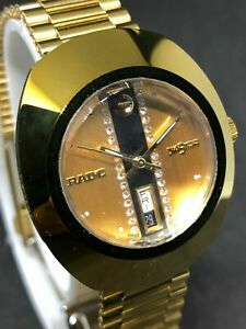 RADO DIASTAR DIAMOND DAY/DATE GP AUTOMATIC MEN'S WATCH MODEL 648 0413 3 WITH BOX