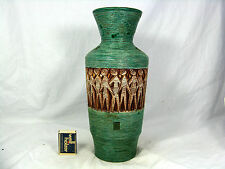 "Beautiful 60´s Italian ""alla moda"" in rilievo POTTERY CERAMICA VASO 8815 ITALY"
