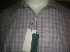 NWT PERRY ELLIS PLAID MULTI-COLOR SLIM FIT DRESS SHIRT SZ:XXL 2XL 2X