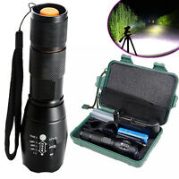 50000Lumens Genuine G700 LED Tactical Flashlight Military Grade Torch Light Set