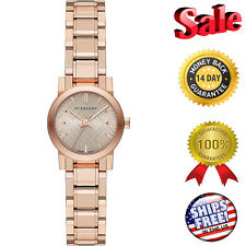 100% NEW BURBERRY WOMEN'S PETITE ROSE GOLD TONE BAND / DIAL  ACCENT WATCH BU9228