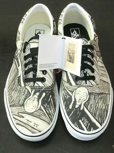 Vans x MoMA Mens Era Edvard Munch The Scream Artwork Canvas Shoes Size 10.5 NIB