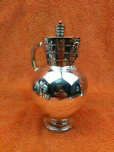 Antique Silver Plated Bacchus Lidded Jug C1890 Martin Hall & Co Ltd Sheffield