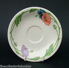 Vintage 1980's Villeroy & Boch Amapola Pattern Saucers Only 16.25cm Look in VGC