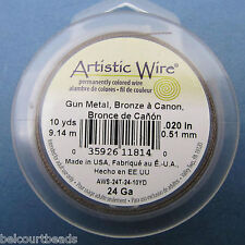 "Bronze Twisted! Artistic Wire 24 Ga (.20"") 10 Yards (9.14m) Permanent Color"