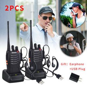 2PCS Baofeng BF-888S UHF 5W Handheld 16 Channels Two way Ham Radio Walkie Talkie