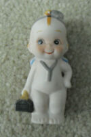 "Vintage Porcelain Kewpie Doctor with Bag Figurine 3 1/8"" Tall"