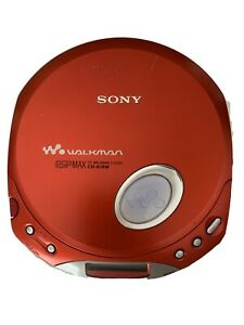 Sony Walkman DE350 Portable CD Player Red Tested Works
