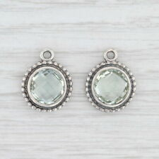 New Authentic Pandora Green Amethyst Earring Charms Sterling Silver 290644GAM