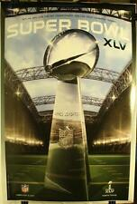 "Super Bowl XLV Lombardi Trophy Packers Steelers 36 x 24"" Poster New Event 2011"
