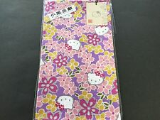 New Hello Kitty Sakura Cherry Blossoms Small Furoshiki Wrapping Cloth Purple